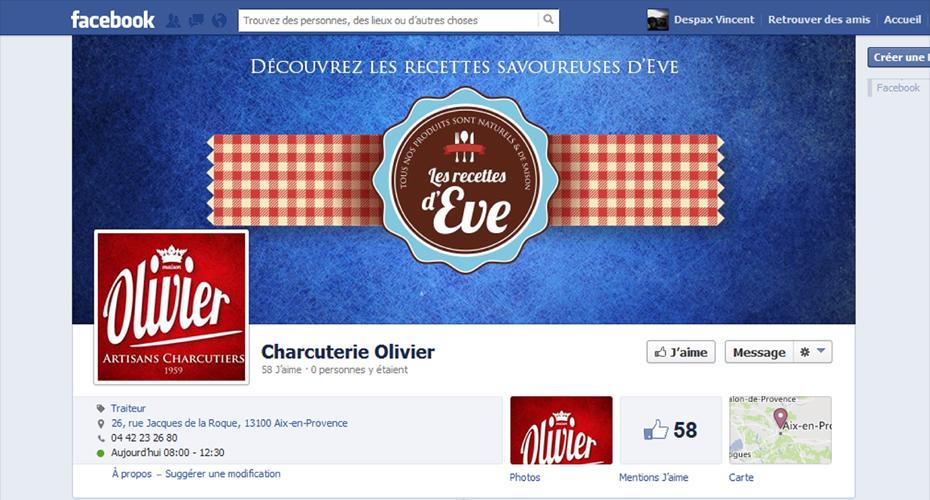 Lancement de la page Facebook de la Charcuterie Olivier