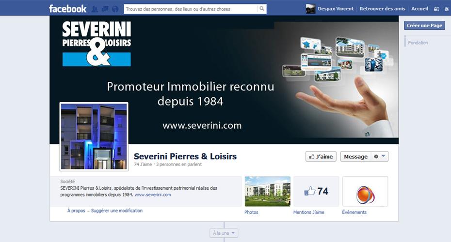 La page Facebook de Severini Pierres & Loisirs