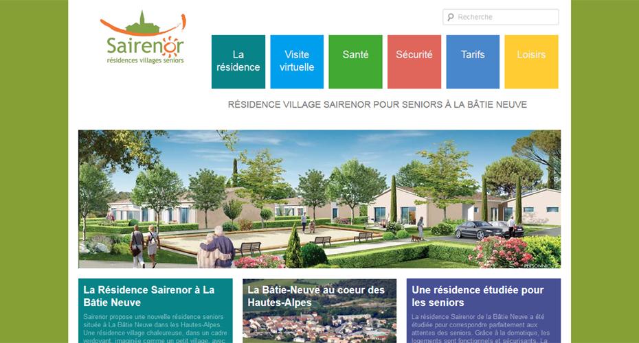 Une page du site internet de La Bâtie Neuve