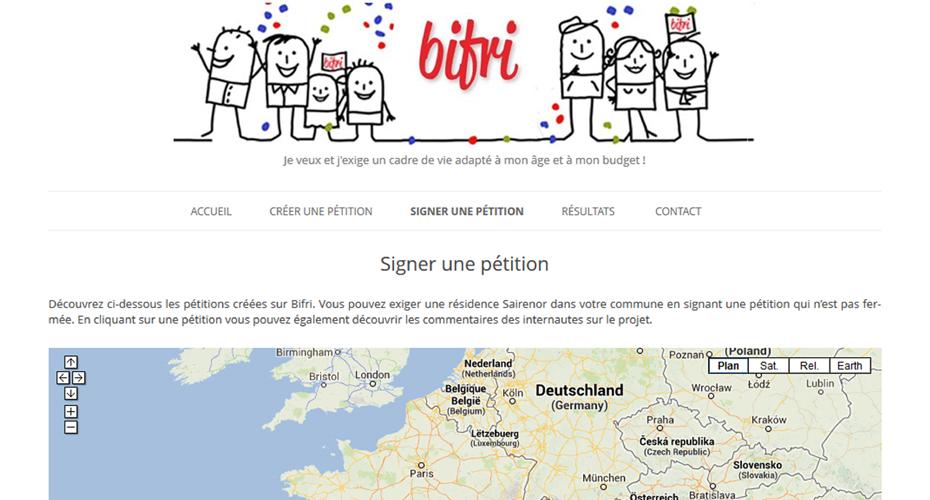 Une page du site internet Bifri