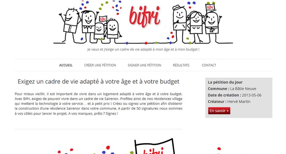 Le site internet Bifri.fr