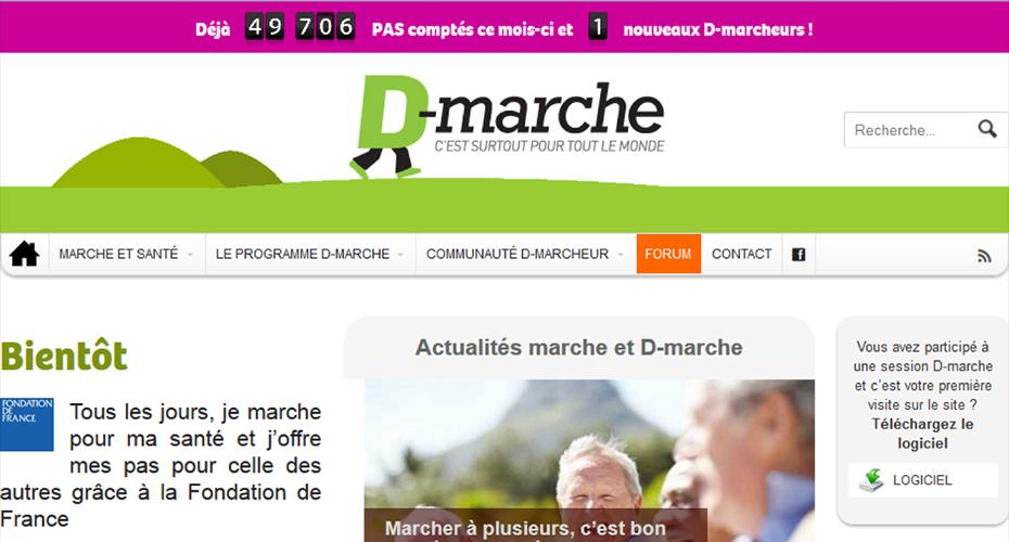 Le site D-marche après refonte