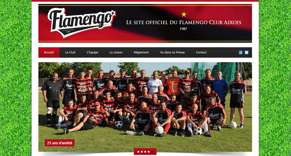 Le site internet du Flamengo
