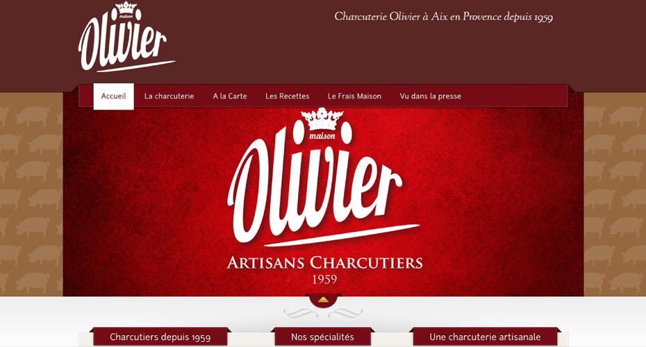 Création du site internet de la Charcuterie Olivier