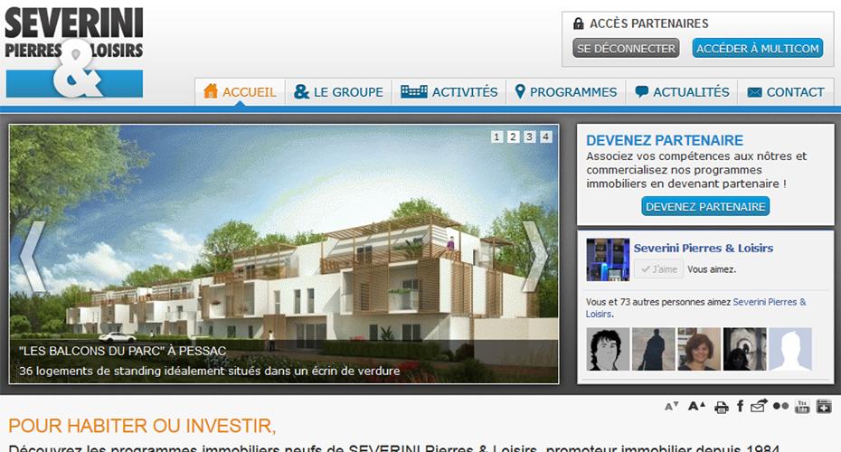 Le site internet de Severini Pierres & Loisirs