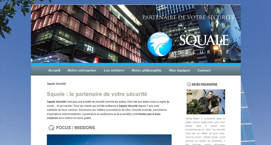 Création du site internet de Squale Sécurité