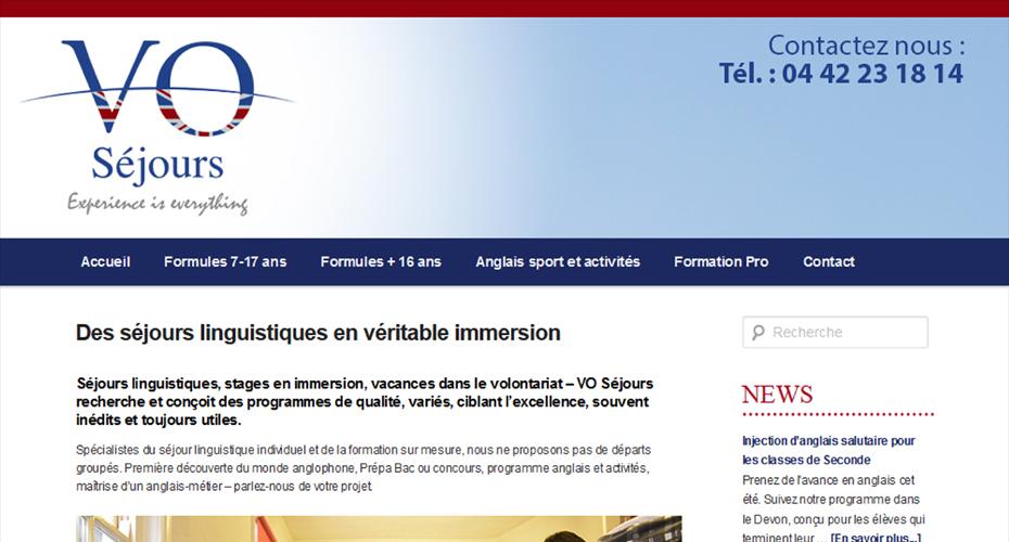 Création du site internet de VO Séjours